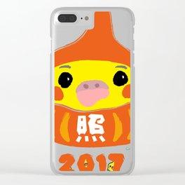 Happy Cockatiel Dharma Doll 2017 Clear iPhone Case