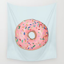Strawberry Frost Donut Wall Tapestry