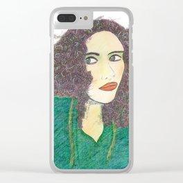 Woman Portrait no 4 Clear iPhone Case