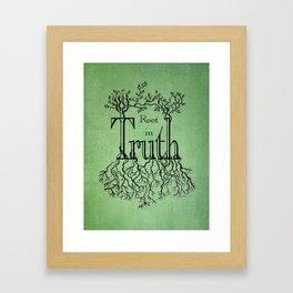 Root in Truth Framed Art Print