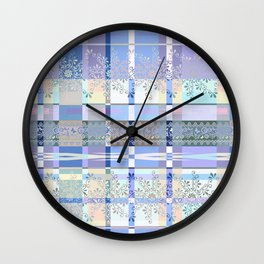 Abstract pattern with lace decorative bands. Wall Clock