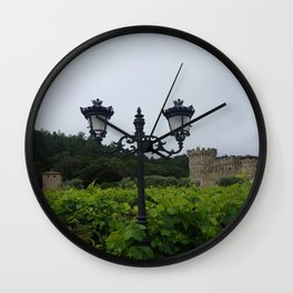 Napa Noir Wall Clock