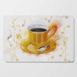 Coffee Art Cutting Board