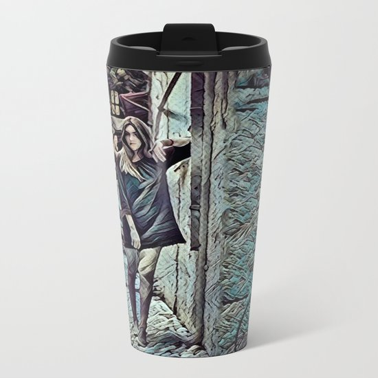 Un Petit Village Français Metal Travel Mug