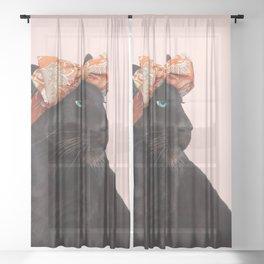 FASHION PANTHER Sheer Curtain