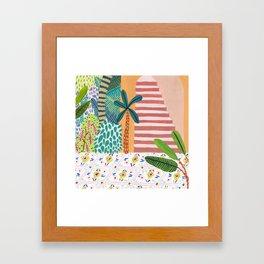 Jungle Staircase Framed Art Print
