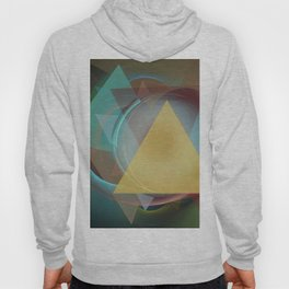 Modern colourful abstract with triangles Hoody