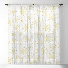 Happy Sunshine Print Sheer Curtain