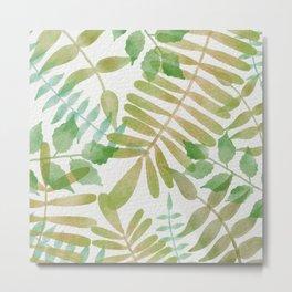 Simple green jungle scene  Metal Print