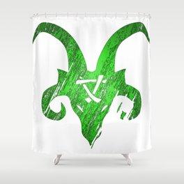 Green Horned Skaven Shower Curtain