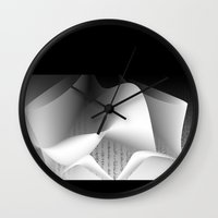 data Wall Clocks featuring Data script  by dominiquelandau