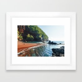 Red Sand Beach - Hana, Hawaii Framed Art Print