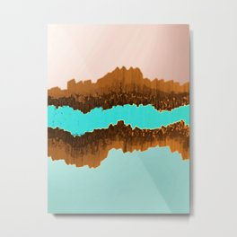 Native American Turquoise & Copper River Metal Print