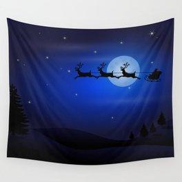 Santa's sleigh ride Wall Tapestry