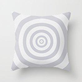 Ripples - Grey Throw Pillow