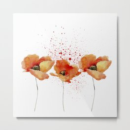 Three Poppies #society6 Metal Print