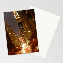 New York City: 42nd Street at Night Stationery Cards