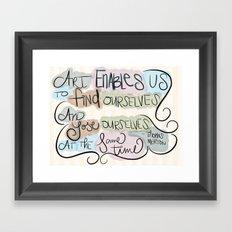 Art Enables Us Framed Art Print
