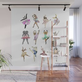 Animal Square Dance Wall Mural