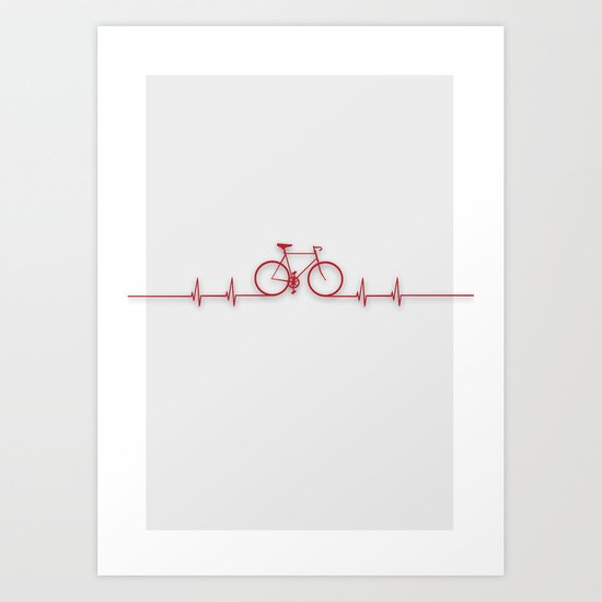 Bike Beat Art Print