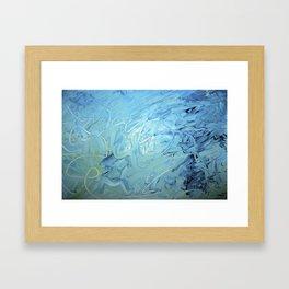 Blue She Went Framed Art Print