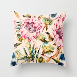 Pattern boho floral Throw Pillow