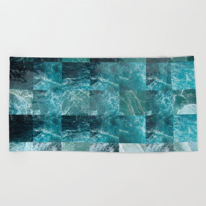 Abstract sea Beach Towel