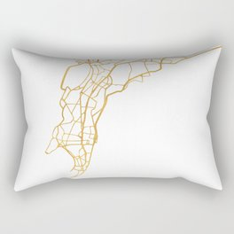 MUMBAI INDIA CITY STREET MAP ART Rectangular Pillow