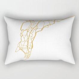 MUMBAI INDIA CITY STREET MAP ART Rectangular Pillow