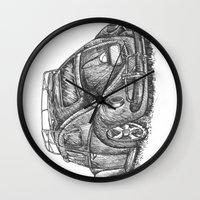 volkswagen Wall Clocks featuring Volkswagen Beetle by Akkattoos