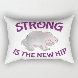 Hippo Fitness Rectangular Pillow