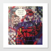 magneto Canvas Prints featuring magneto by Marly_mcfly87