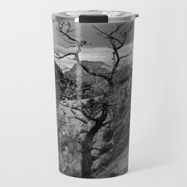 Withered Tree on top of Mountain Range, Big Bend - Landscape Photography Travel Mug