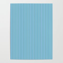 Blue Pinstripes Poster