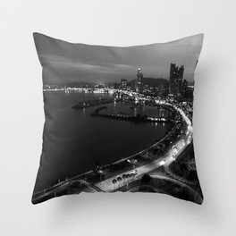 Panama City Sin Colores Throw Pillow