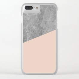 Simply Concrete Blush Pink Clear iPhone Case