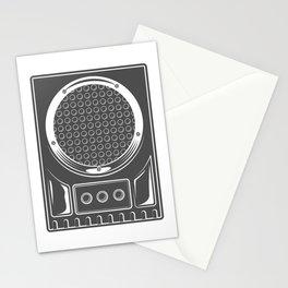 Vintage music concert audio loudspeaker in monochrome style illustration Stationery Cards