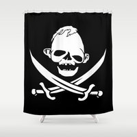 goonies Shower Curtains featuring Sloth,s Bones by Ant Atomic
