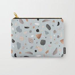 Terrazzo Stone Confetti blue Carry-All Pouch
