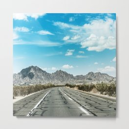 on the road Metal Print