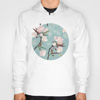 cherry blossoms Hoodies featuring Cherry-Blossoms by Niloufer