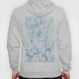 blue watercolor Hoody