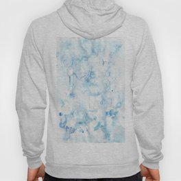 blue watercolor Hoody