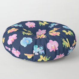 Orchid mantis - Dark Floor Pillow
