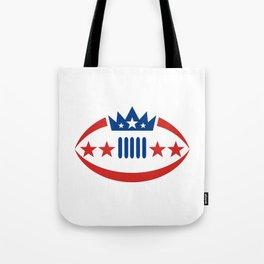 American Football Ball Crown Star Icon Tote Bag
