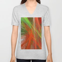 Disco Lights (A7 B0217) Unisex V-Neck