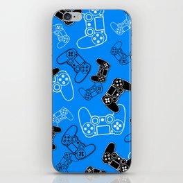 Video Games Blue iPhone Skin
