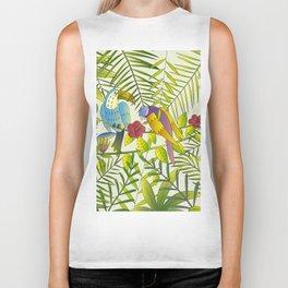 Tropical Paradise Pattern 1 Biker Tank