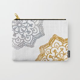 Gold and silver lace floral Carry-All Pouch
