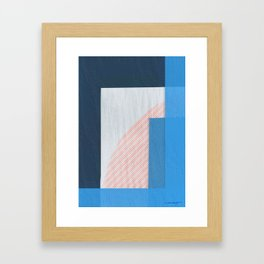 Abstract Geometric Space 2 Framed Art Print